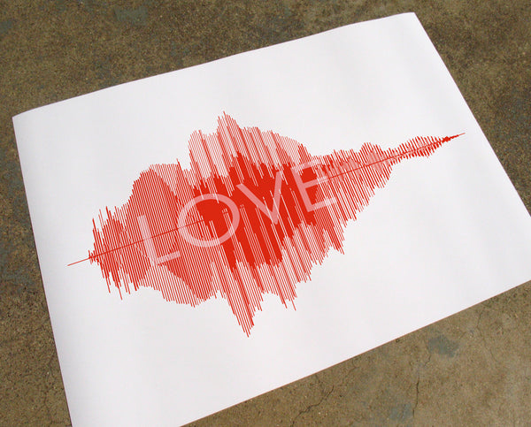 Love Sound Wave Image Red
