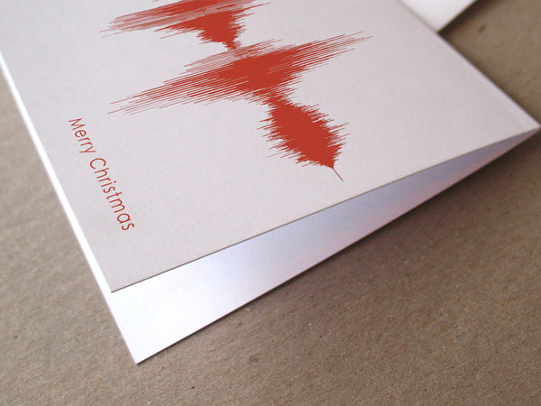 Merry Christmas Sound Wave Audio Greeting Card