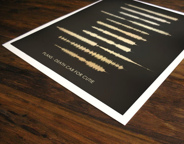 Entire Plans Album in Sound Waves - SoundWaveArt.net