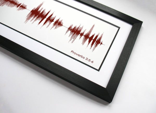 Proverbs 3:5-6 Soundwave Art