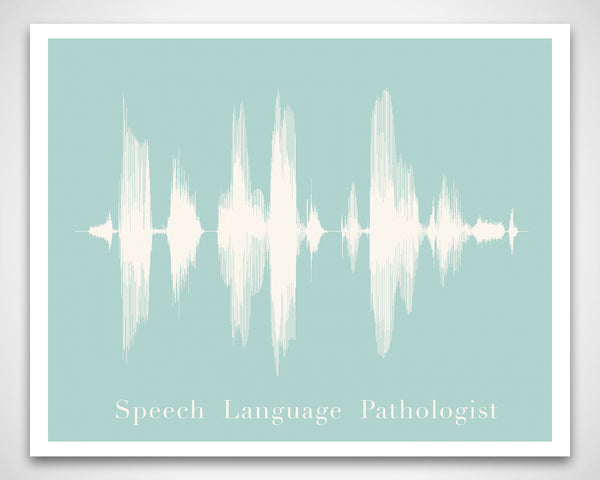 Speech Language Pathologist (SLP) Sound Wave Waveform Art