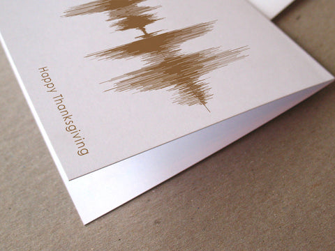 Happy Thanksgiving Sound Wave Audio Greeting Card