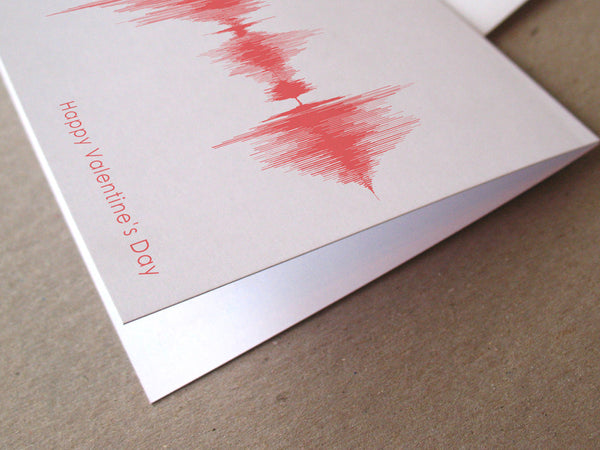 Happy Valentine's Day Sound Wave Audio Greeting Card
