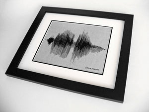 Custom Name Sound Wave Portrait