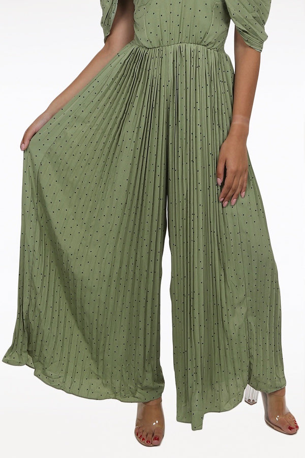 Green Palazzo Jumpsuit