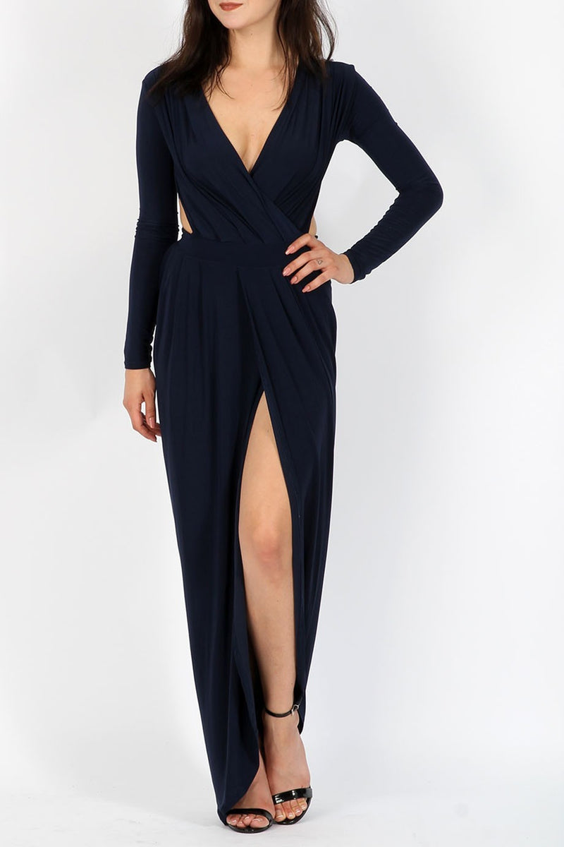 Goddess Maxi Dress - Navy - Miss Vanilla