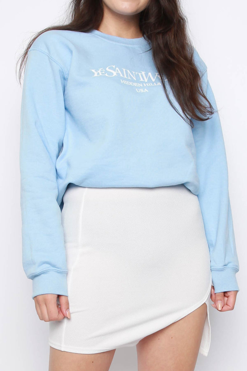 Slogan Oversized Sweatshirt