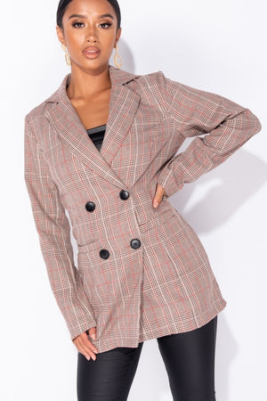 Checked Blazer