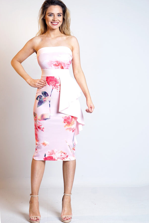 Floral Bandeau Dress - Miss Vanilla