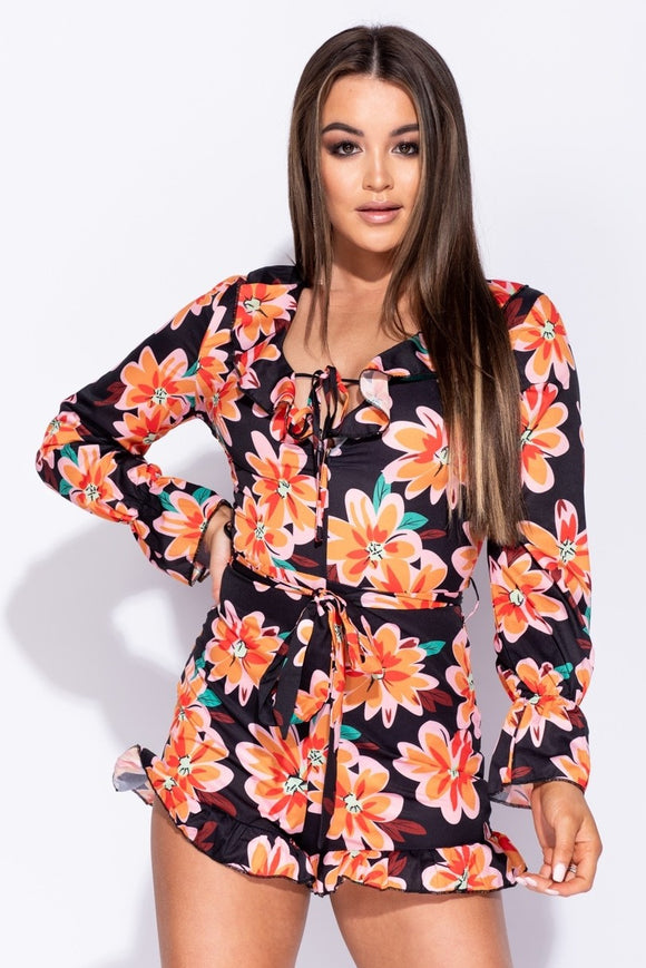 Floral Frill Playsuit