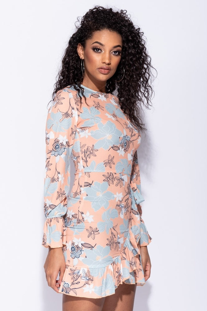 Floral Frill Hem Dress - Miss Vanilla