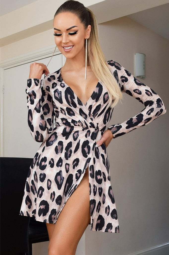 Leopard Wrap Dress - Miss Vanilla