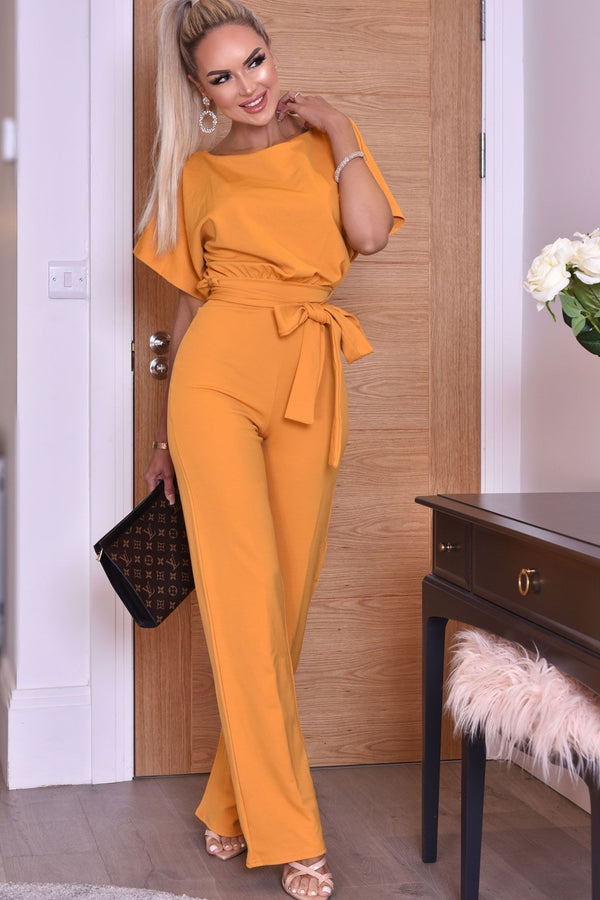 Mustard Batwing Jumpsuit