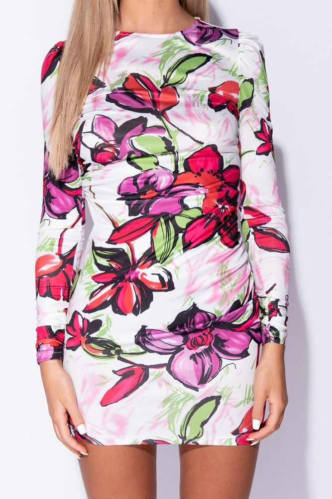 Large Floral Mini Dress - Miss Vanilla