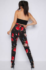 Floral Belt Trousers