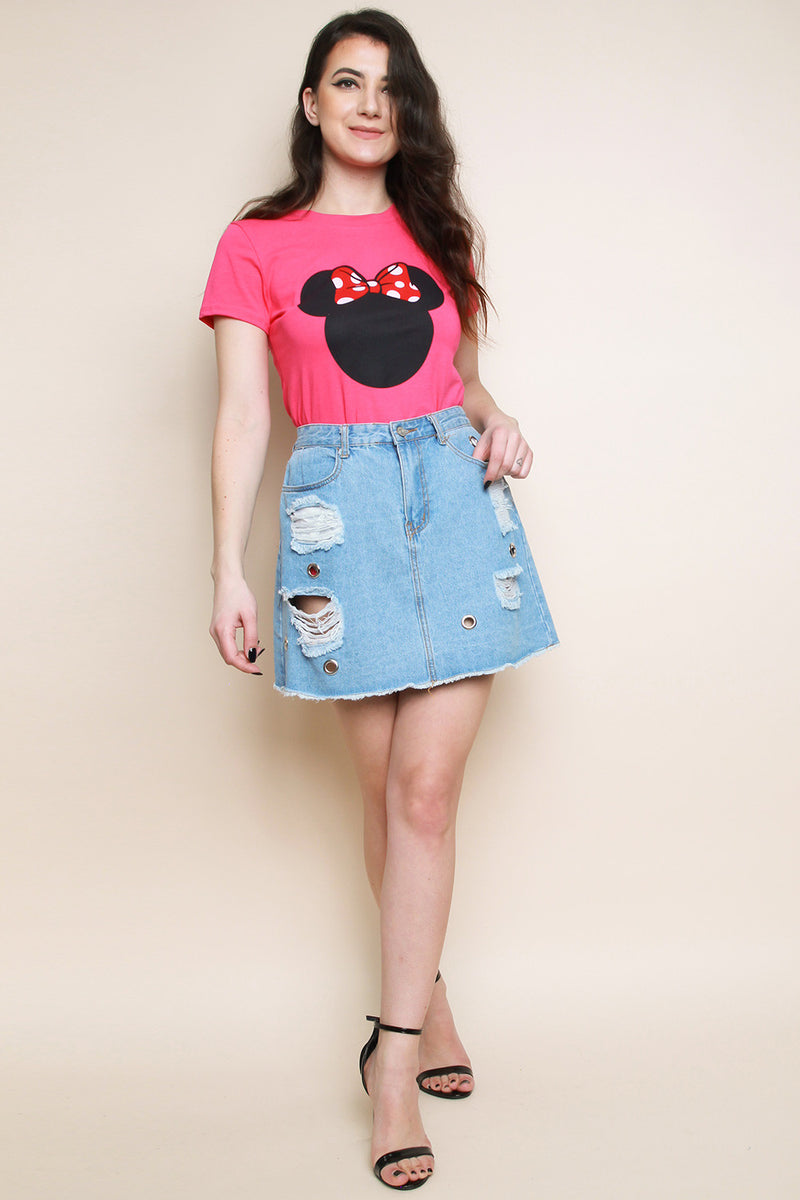 Pink Minnie T-shirt - Miss Vanilla