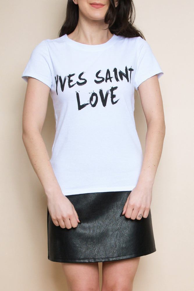 Yves Saint Love T-Shirt - White