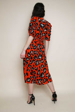 Red Leopard Midi Dress - Miss Vanilla