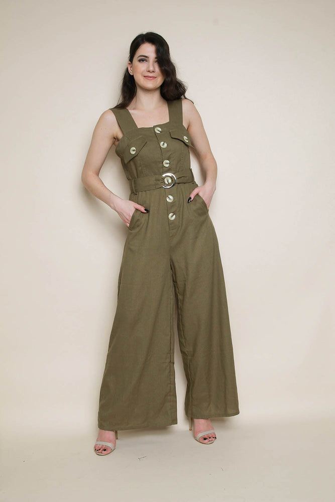 Linen Wide Leg Jumpsuit