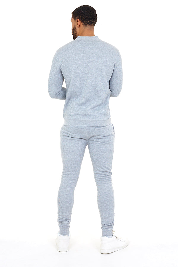 Grey Slim Fit Jog Set