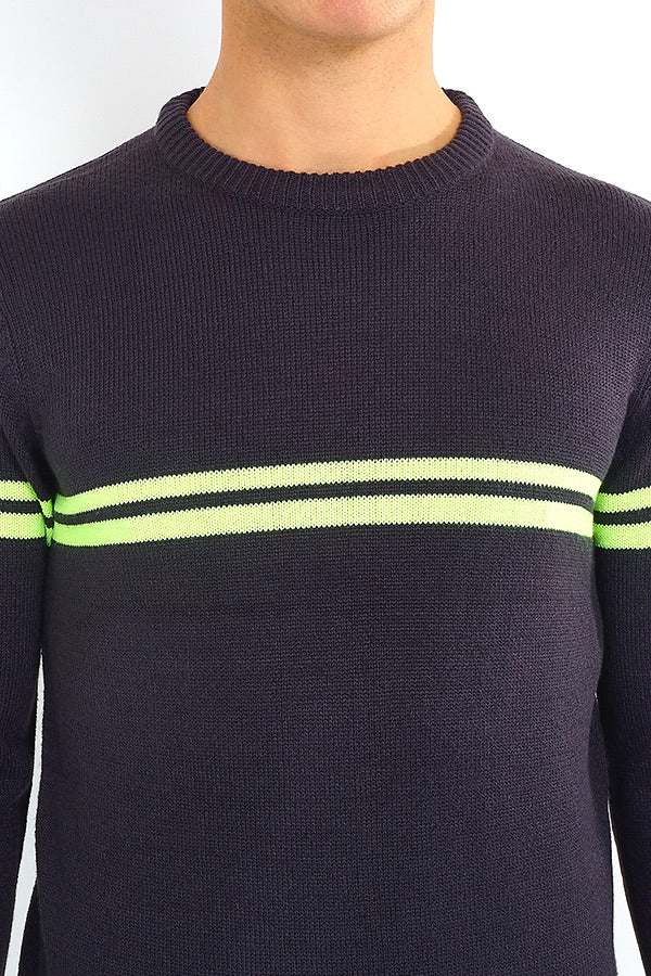 Neon Stripe Jumper