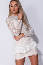 Multi Lace Frill Dress - Miss Vanilla