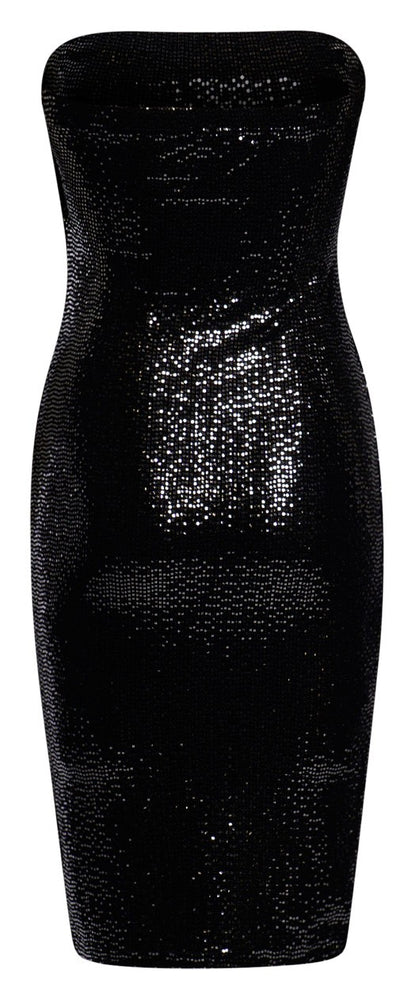 Sequin Bandeau Dress - Miss Vanilla