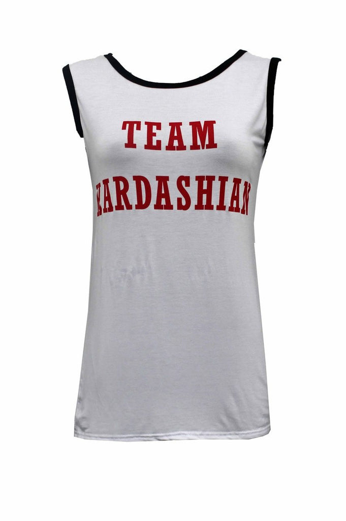Team Kardashian Vest Top - White