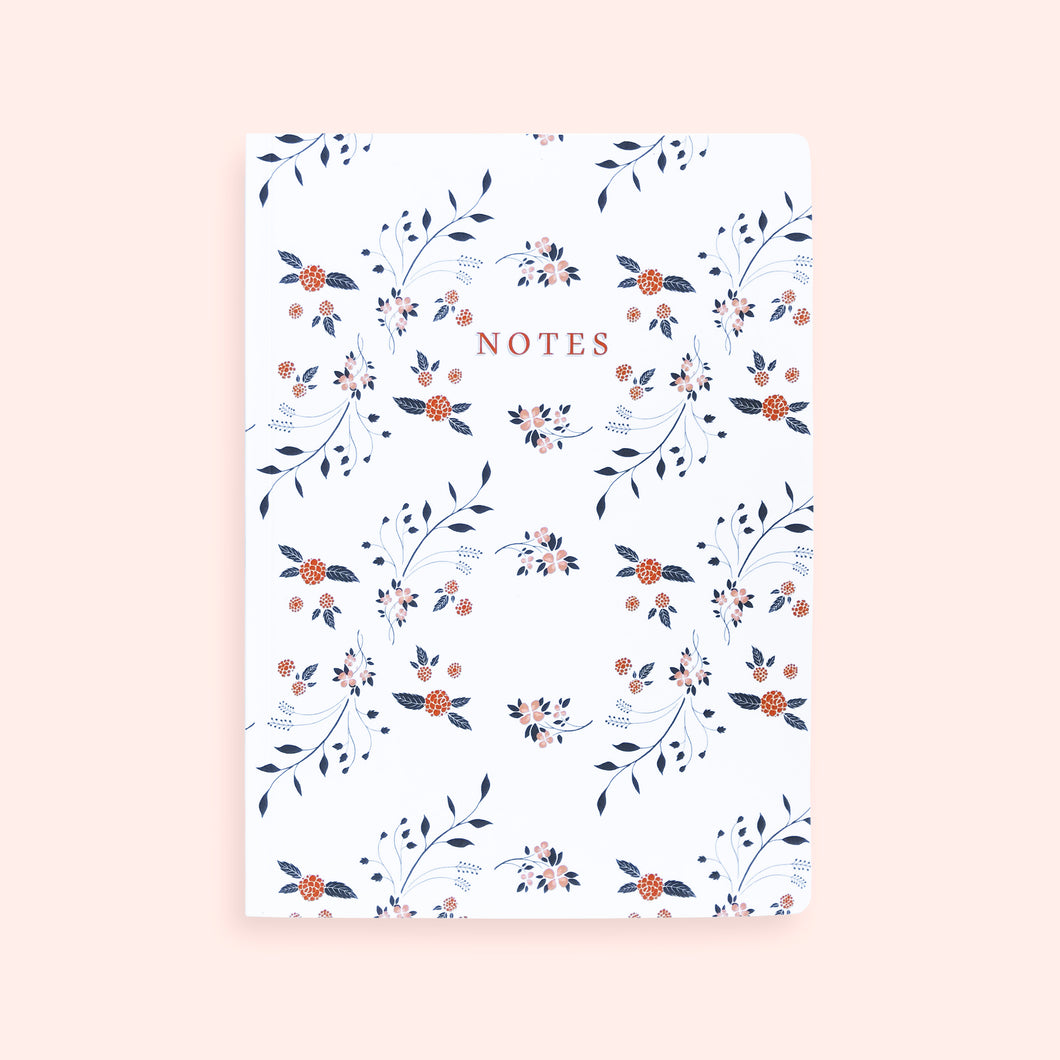 Notebook motif fleuri