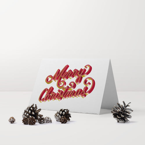 3D lettering holiday greeting card • Merry Christmas