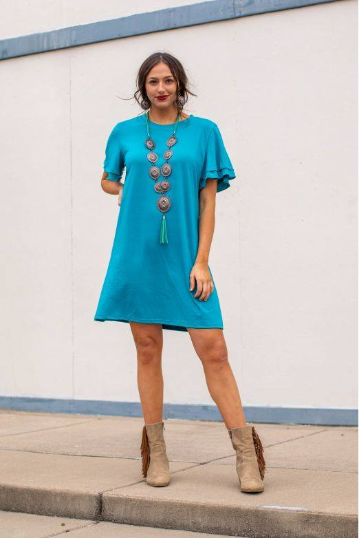 Jade Ruffle Short Sleeve Dress