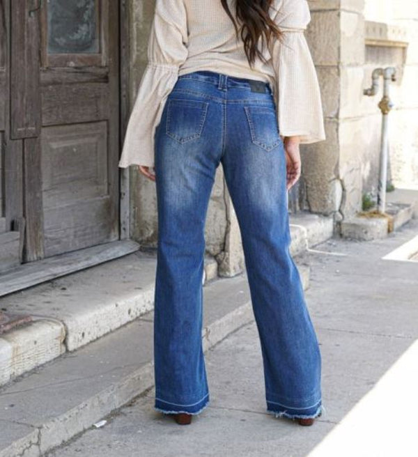 L&B Wide Leg (trouser cut) Jeans #18012 db