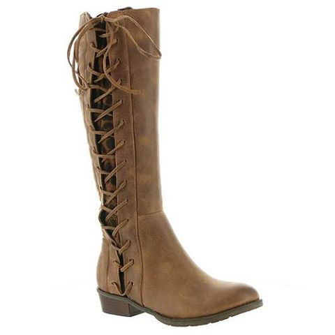 Tabloid Tan & Leather Tall Boot