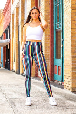 Black Serape Basic Leggings