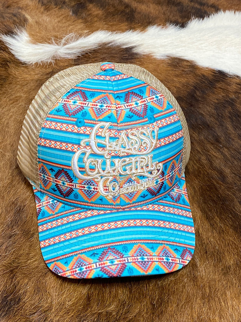 Classy Cowgirl Co Aztec Cap