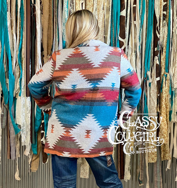 Classy Cowgirl Navajo Aztec Jacket Featured in Cowboys & Indians Magazine
