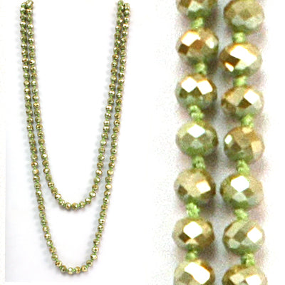 Olive crystal necklace strand