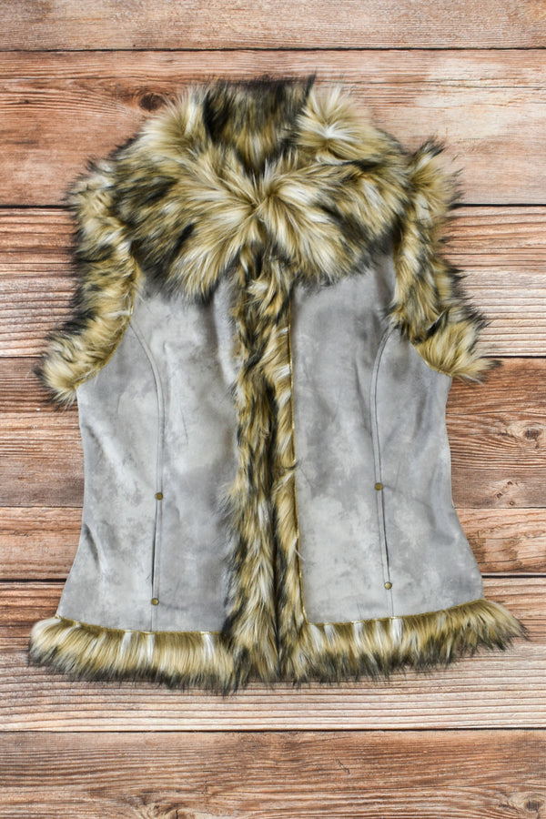 Tasha Polizzi Luxe Vest with Fur Trim