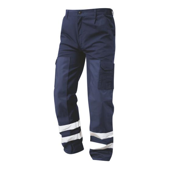 Ballistic Work Trousers Hi Vis Bands - S918