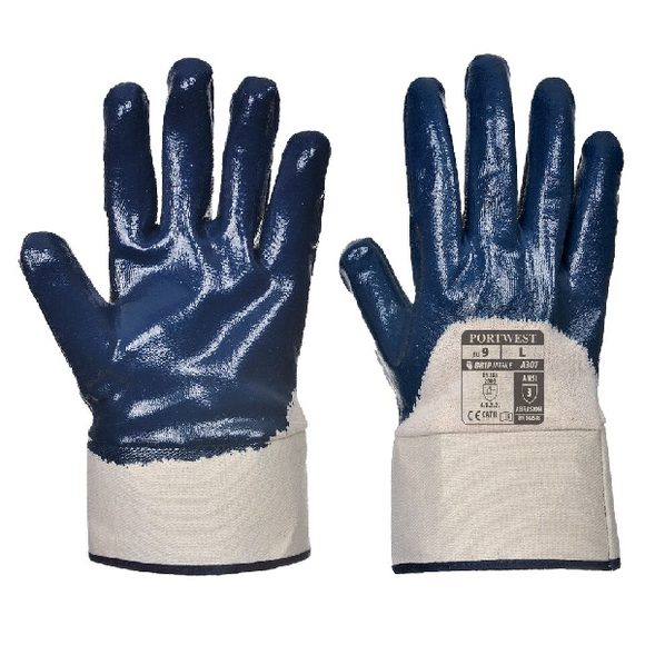 NITRILE SAFETY CUFF GLOVE - A301