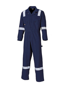 Lightweight Cotton Hi-Vis Strip Coverall - WD2279LW