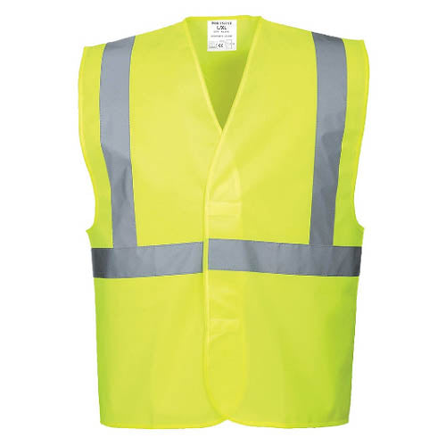 HI-VIS ONE BAND & BRACE VEST - C472