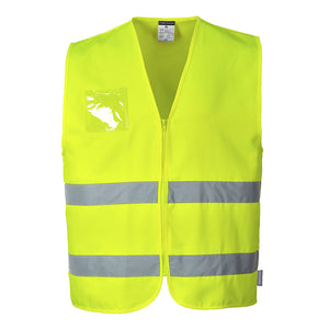 Hi-Vis Poly-Cotton Vest- C497