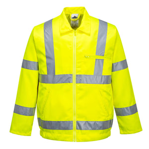Hi-Vis Poly-Cotton Jacket - E040