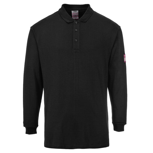 Flame Resistant ARC Rated Long Sleeve Polo Shirt - FR10