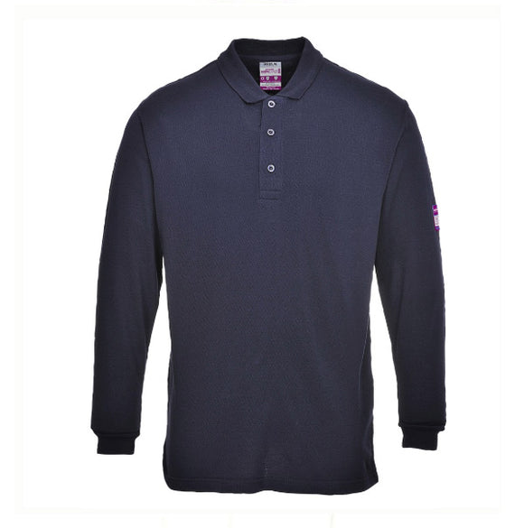 Flame Resistant ARC Rated Long Sleeve Polo shirt   FR10