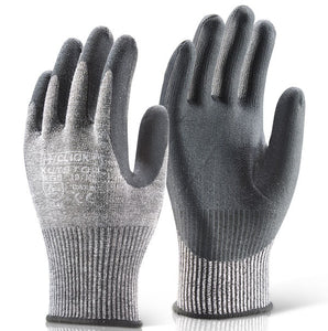 Cut 5 PU Palm Glove Grey - A622
