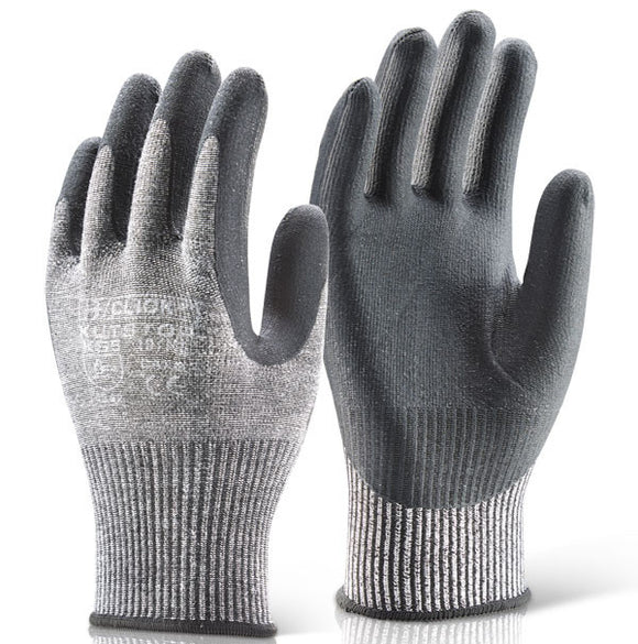 A622 - Cut 5 PU Palm Glove Grey