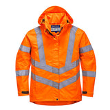 Womens Hi Vis Breathable Jacket - RIS  Rail Track Approved - LW70