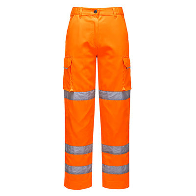 Lady's Hi Vis Cargo Trousers - RIS - Rail Track Approved - LW71